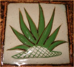 07-0009 ALOE PLANT  CEAMIC TILE