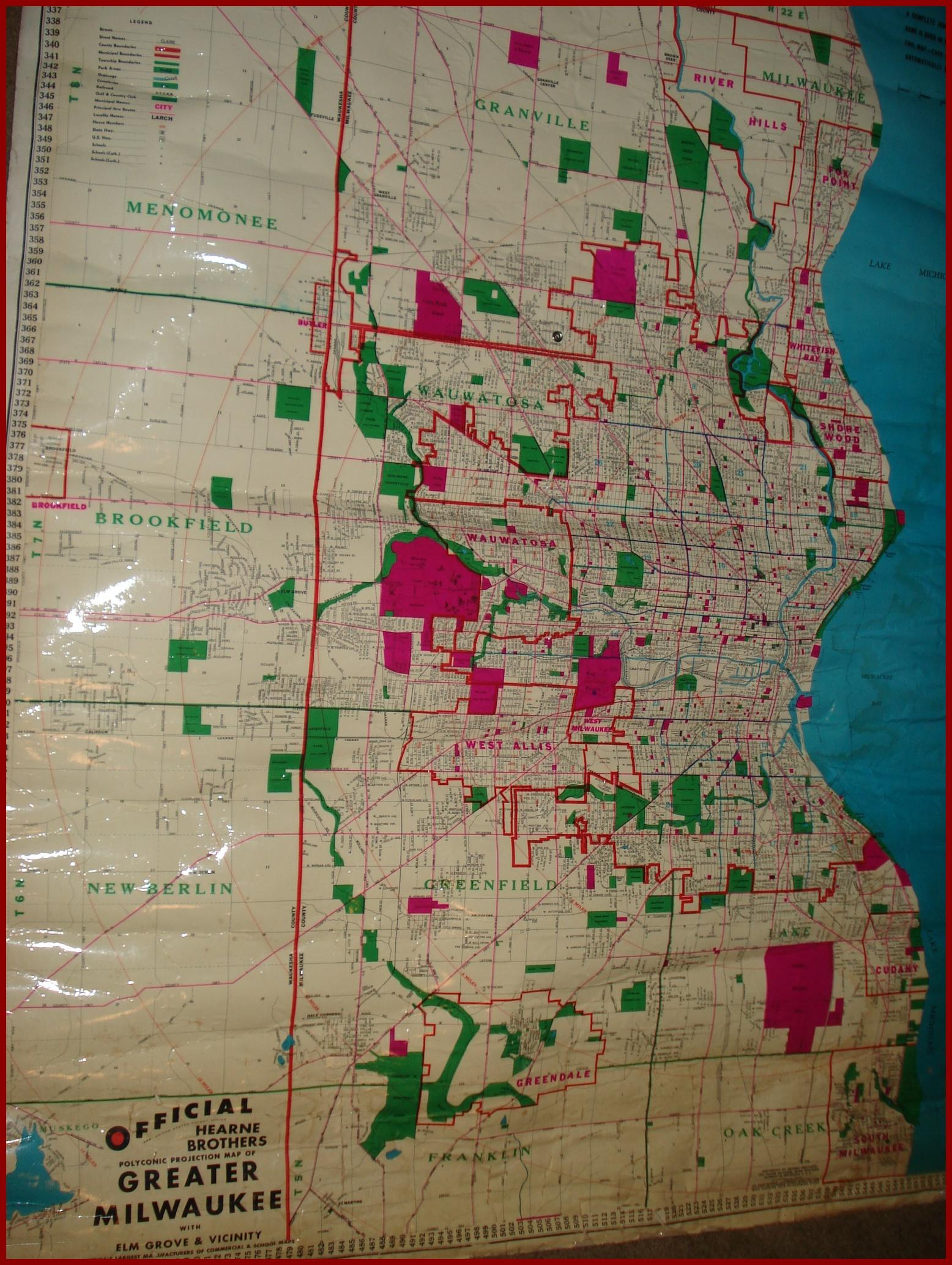 VINTAGE MILWAUKEE MAP Abandoned Treasures - Vintage milwaukee map