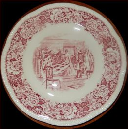15-0183 ANTIQUE HISTORICAL AMERICA PLATE   BETSY ROSS SHOWING FIRST FLAG