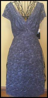 16-0059 MARINA COCKTAIL DRESS Gray sz 12  NEW