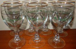 16-0293 7 IRISH COFFEE WINE GLASSES