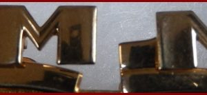 17-0033 VINTAGE HICKOK CUFF LINKS GOLD INITIAL M