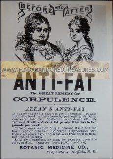 17-0165W ANTI FAT AD NAUSEAM POST CARD