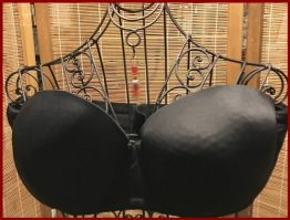 17-0209 LANE BRYANT CACIQUE STRAPLESS BRA 44C BLACK