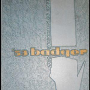 17-0334  THE UNIVERSITY OF WISCONSIN BADGER YEARBOOK 1953