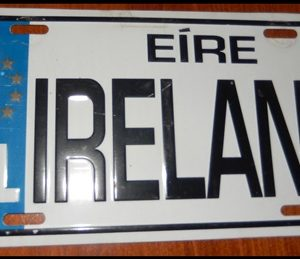 17-0347 LICENSE PLATE FROM IRELAND