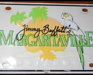 17-0348 JIMMY BUFFETT MARGARITAVILLE LICENSE PLATE