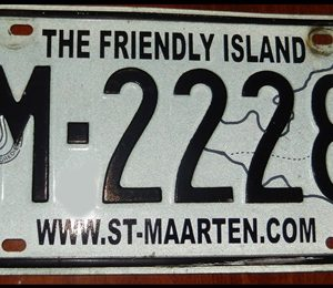 17-0350 LICENSE PLATE ST. MAARTENS M-2228