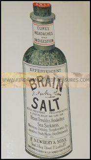 17-140W BRAIN SALT AD NAUSEUM POST CARD