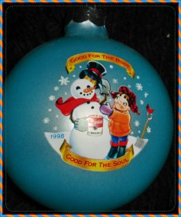 COLLECTIBLE CAMPBELLS CHRISTMAS ORNAMENT, 1998, SNOWMAN 08-0359