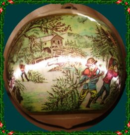 CURRIER & IVES ORNAMENT 08-0746(2)