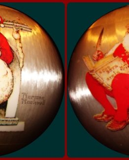 NORMAN ROCKWELL 1973 SANTA CHRISTMAS TREE ORNAMENT 09-0566A