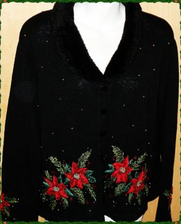 WINTER CHRISTMAS HOLIDAY SWEATER, HEIRLOOM COLLECTIONS, SMALL 09-0725