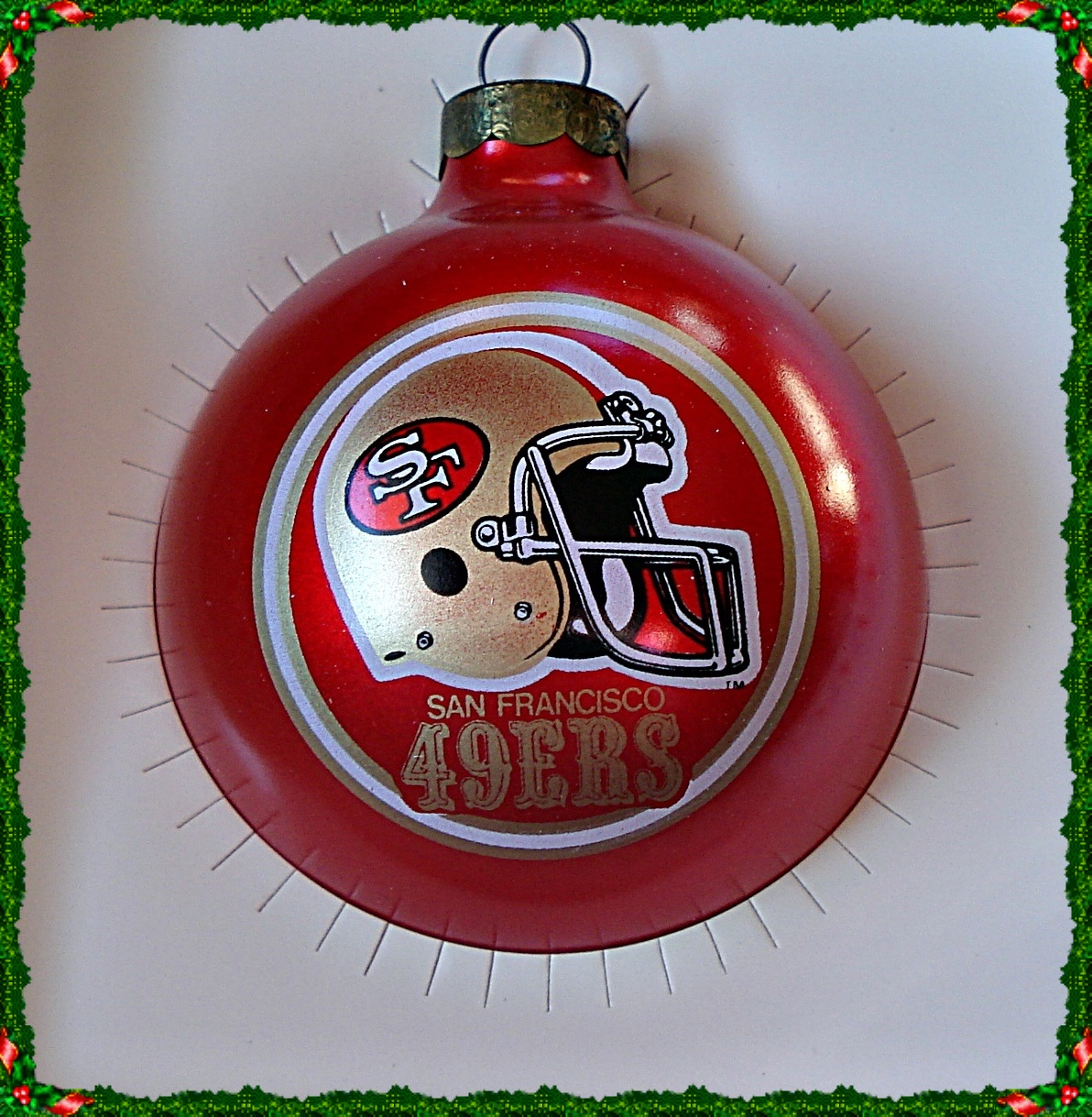 SAN FRANCISCO 49ERS CHRISTMAS HOLIDAY TREE ORNAMENT, BY ...