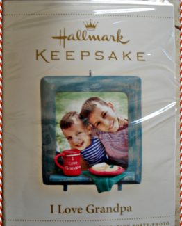HALLMARK I LOVE GRANDPA CHRISTMAS HOLIDAY TREE ORNAMENT 10-0296