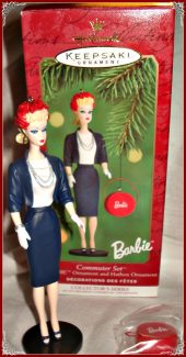 "HALLMARK ""COMMUTER SET"" BARBIE TREE CHRISTMAS ORNAMENT 10-0327"