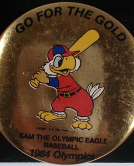 "1984 GO FOR THE GOLD"" OLYMPIC HAT PIN: BASEBALL 12-0136"