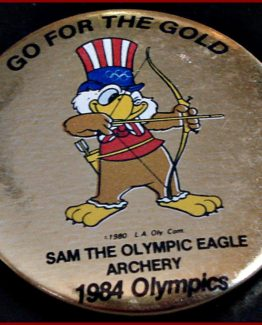 1984 GO FOR THE GOLD OLYMPIC HAT PIN: ARCHERY