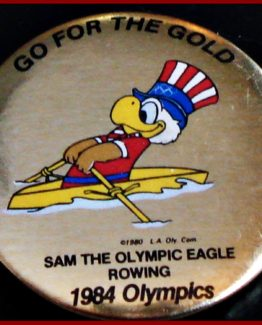 1984 GO FOR THE GOLD OLYMPIC HAT PIN ROWING
