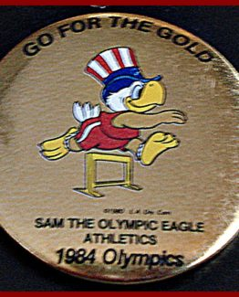 1984 GO FOR THE GOLD OLYMPIC HAT PIN: ATHLETICS TRACK & FIELD