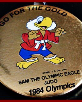 1984 GO FOR THE GOLD OLYMPIC HAT PIN: JUDO