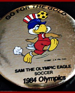 "1984 ""GO FOR THE GOLD"" OLYMPIC HAT PIN: SOCCER 12-0163"