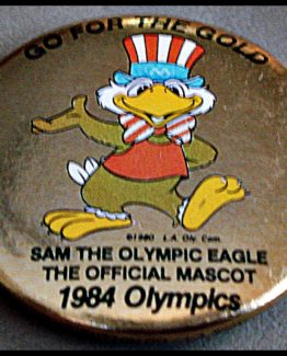 "1984 ""GO FOR THE GOLD"" OFFICIAL EAGLE MASCOT 12-0165"