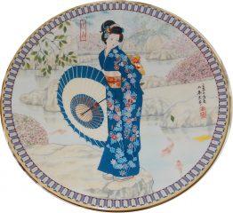 BRADFORD EXCHANGE PLATES: Poetic Visions of Japan:  Crystal Spring) 15-0216