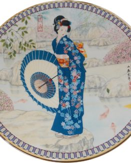BRADFORD EXCHANGE PLATES: Poetic Visions of Japan:  Crystal Spring) 15-0216