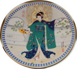 BRADFORD EXCHANGE PLATES: Poetic Visions of Japan: Leaves 15-0217