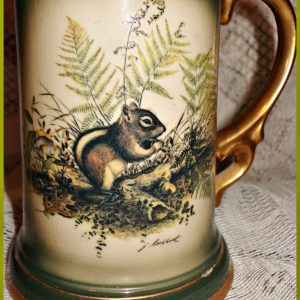 11-0124 VINTAGE JIM BEAM CHIPMUNK MUG J Lockhart