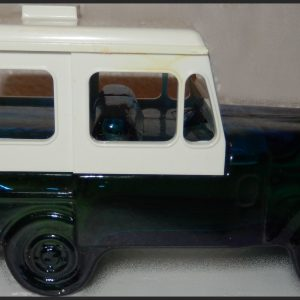 15-0015 VINTAGE AVON POSTAL JEEP DECANTER: DEEP WOODS AFTER SHAVE